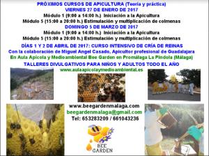 Cursos Apicultura y Cría de Reinas Bee Garden Málaga 2017