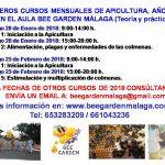 Cursos de Apicultura 2018 Bee Garden Málaga